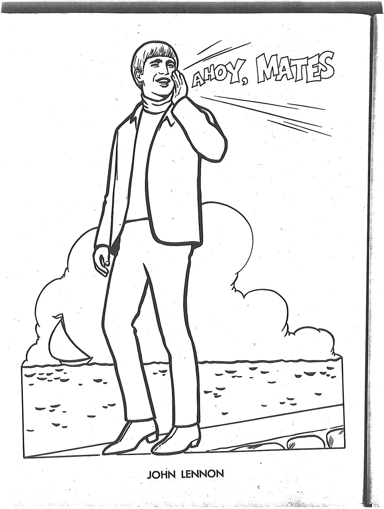 beatles coloring book pages coloring pages